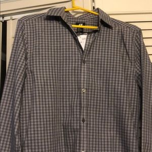 Mens H&M dress shirt long sleeve